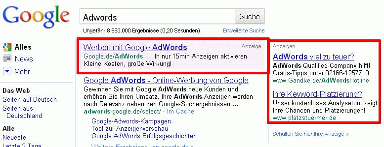 Google-adwords-anzeigen